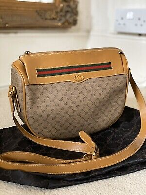 100% AUTHENTIC Vintage Gucci 1980's GG Ophidia Crossbody Camera Bag RARE