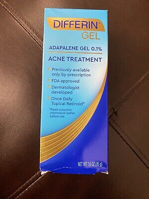 Brand New Differin Adapalene Gel 0.1%, Acne Treatment, 1.6 oz  EXP: 6/2021+