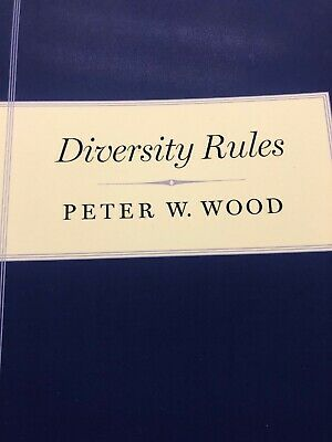 Diversity Rules by Peter W. Wood (English Paperback Book Free Shipping! NEW BOOK