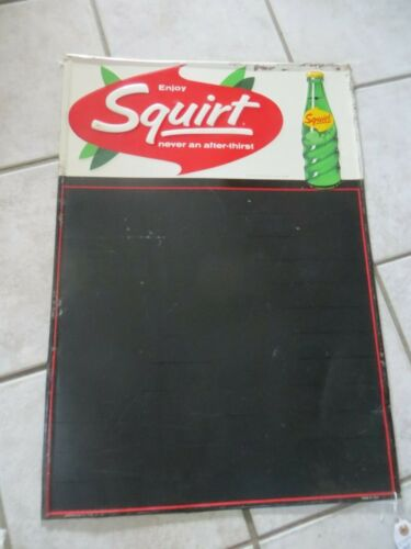 ENJOY SQUIRT SODA MENU SIGN, MADE BY ROBERTSON USA,DATED 1964