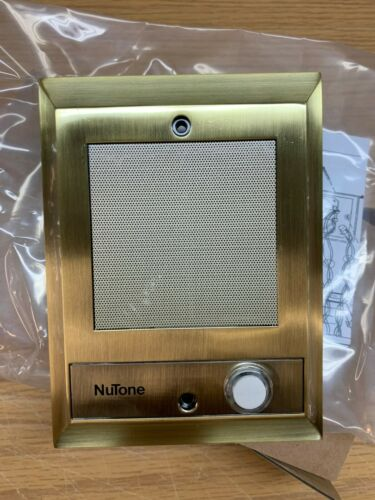 (B-Stock) Nutone IS-69AB Intercom Door Speaker lighted push button Antique Brass
