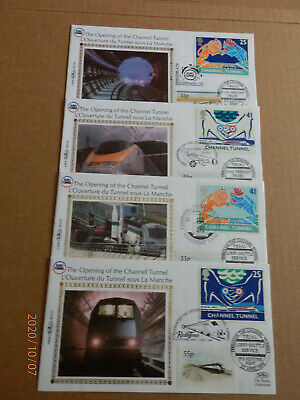 OPENING of the CHANNEL TUNNEL. SET of 4 LIMITED EDITION . BS 26 to BS29. SUPERB