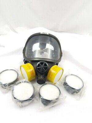 Vintage Norton Full Face Safety Respirator-7600-8 Pn 651-02-6 Steam Punk