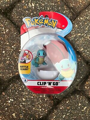 Pokemon Clip N Go Squirtle With Poke Ball Figure