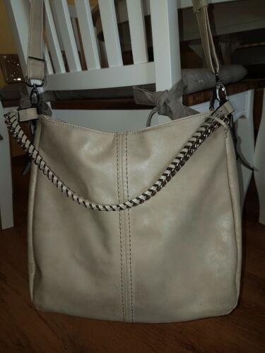 Gabor  Handtasche, Schultertasche Grau  mit vielen Fächern Damenhandtasche