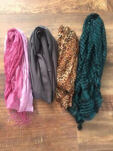 4 scarfs