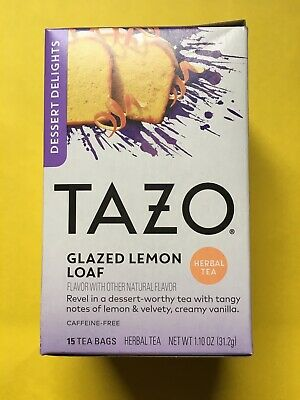 Tazo Tea~Dessert Delights GLAZED LEMON LOAF~Herbal Tea ~15 Bags ~ BB 03/19/22