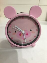 Pink Pig Face Alarm Clock 4X1.5X5 with Ears