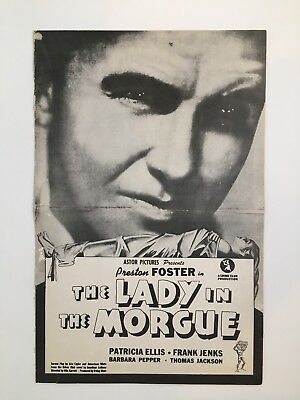 "LADY IN THE MORGUE Pressbook 1938 Pages 11"" x 17"" Movie Poster Art 022"