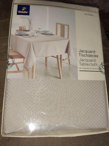 TCM Tchibo Tischdecke Tafeldecke Tischtuch Taft seidig schimmernd Eckig Silbern