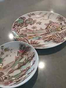 Plate and bowl set  , beautiful , made in Japan Carrara Gold Coast City Preview