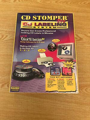 Cd Stomper Pro Cd Labeling System New