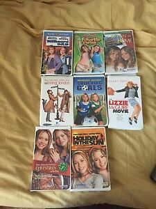 VHS Mary Kate and Ashley and Lizzie McGuire movies