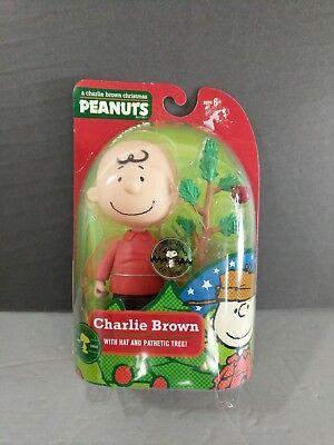 Charlie Brown Christmas Figurine w/pathetic tree item 6547 New NIB Peanuts  Charlie Brown Pathetic Christmas Tree