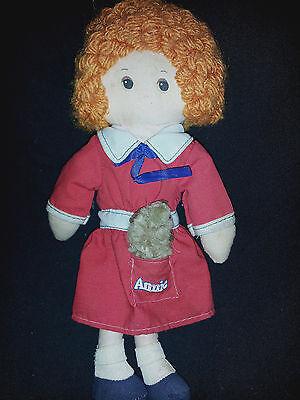 n Annie Knickerbocker Sandy Hund Rot Kleid 1977 Stoffpuppe 9 (Annie Roten Kleid)