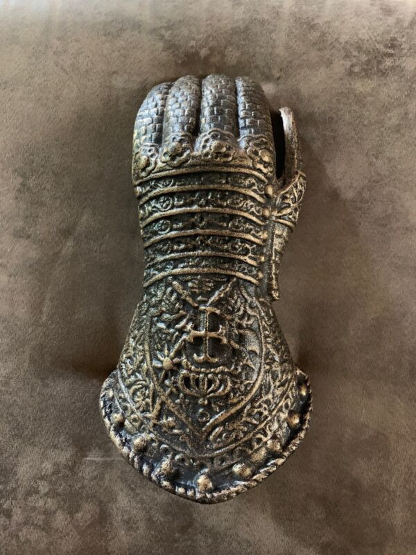 Medieval Replica Cast Iron Left Gauntlet Armor Wall Decor