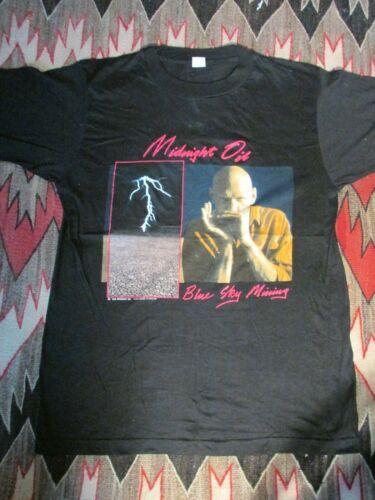 Midnight Oil 1990 European Tour  Blue Sky Mining, Original Vintage T-Shirt, L
