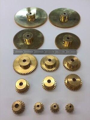 24 Pitch Solid Brass Spur Gears Diy Gears Boston Ma. Maker Robot Reducer Box