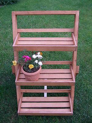 Blumen-, Kräuter-, Pflanzentreppe aus Holz  / 9005