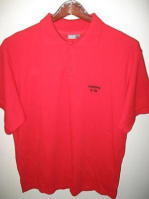 Driver Short Sleeve Pique Shirt - Volvo Swedish Automobile Car For Life Logo Pique Red Men's Driver Polo Shirt Lrg
