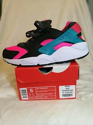 Neue Nike Air Huarache Sneaker Pink x Grün x Schwarz Größe 38 Unisex