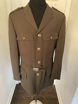 GIANNI VERSACE MENS VINTAGE AMAZING MILITARY JACKET SIZE 52 RUNWAY PIECE
