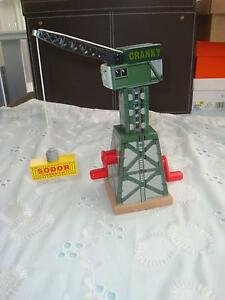 CRANKY the Crane Wooden, Accessory for Thomas Wooden Trains, EUC Ormond Glen Eira Area Preview