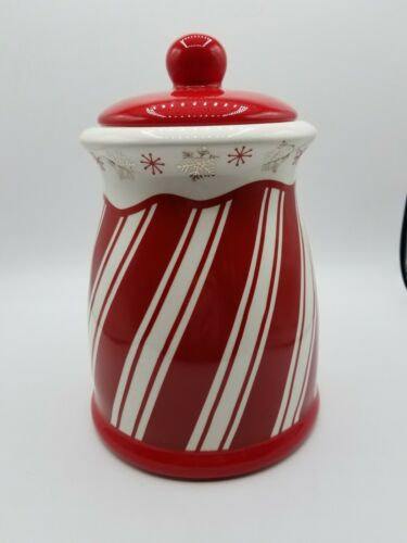 Terramoto Ceramic Peppermint Swirl Cookie Jar