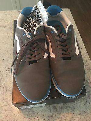 Vans size 11 , Graph Gray, Blue and white