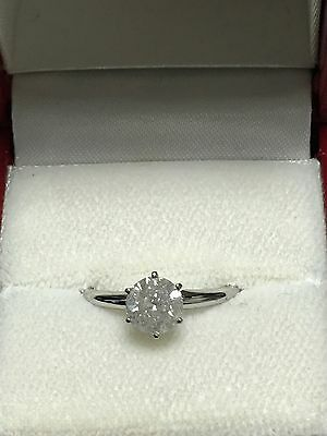 1.09ct Natural Mine Diamond Solitaire Engagement Ring 14K Gold