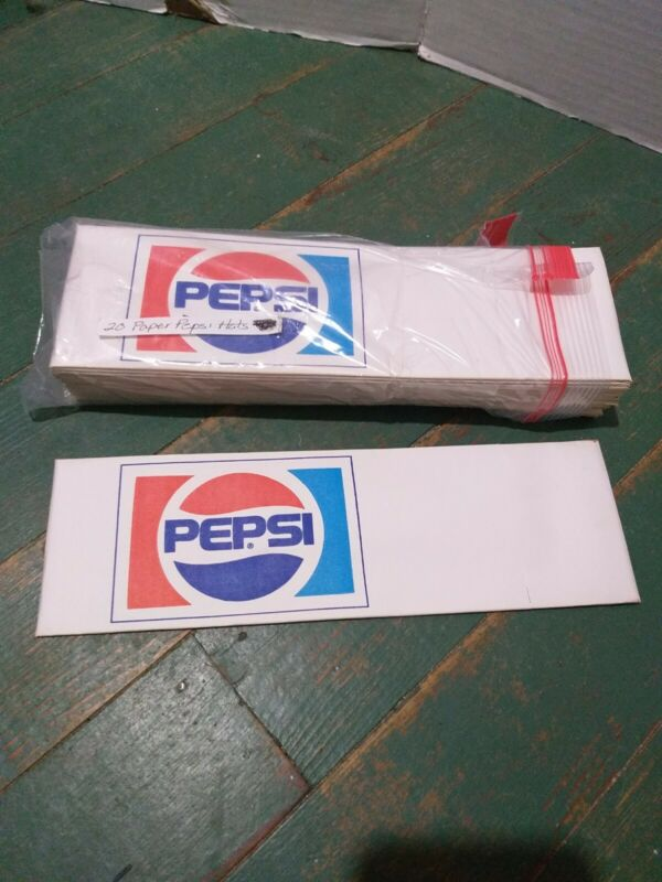 Twenty Old Pepsi Cola Paper Hats