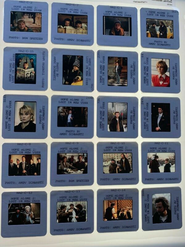 20 Home Alone 2 Movie 35mm Photo Slides Macaulay Culkin Vintage Promo Lot #1