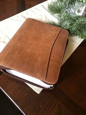 Franklin Covey Planner Classicgenuine Leatherbinder With Zipperundated New