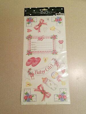 Me & My Big Ideas Baby Girl Stickers STP-109 Scrapbook Stickers (NEW) - Baby Girl Scrapbook Ideas