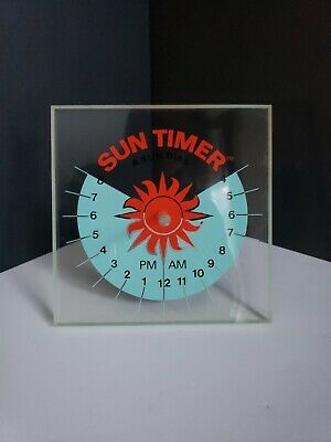 Sun Timer A Sun Dial by Schelling Corporation - UNIQUE RARE ITEM -NONE LIKE THIS