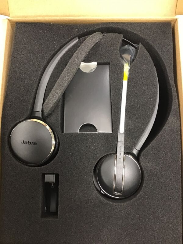 Jabra PRO 9465 Duo Over the Ear Wireless DECT Headset - Black