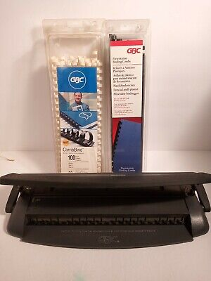 Gbc Docubind Personal Binding System Hole Punch W Rings.