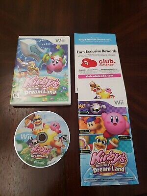 Kirby's Return to Dream Land (Nintendo Wii, 2011) - Complete - Works Great!