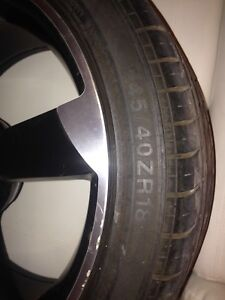 18inch Audi rims and tires