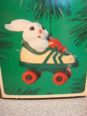 ROLLER SKATING RABBIE,  Hallmark ornament, 1984 mint in package