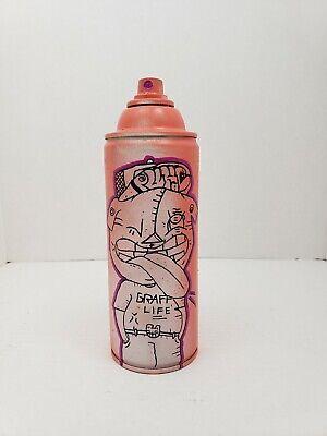 graffiti spray can sculpture original pop art by new york city street artist