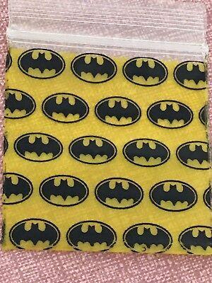 200 Small Baggies 1515 1.5 X 1.5 Mini Zip Lock Poly Designer Bags Batman