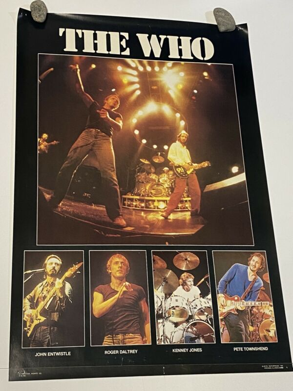 THE WHO Stage Vintage 1980 Collage Poster  23x34