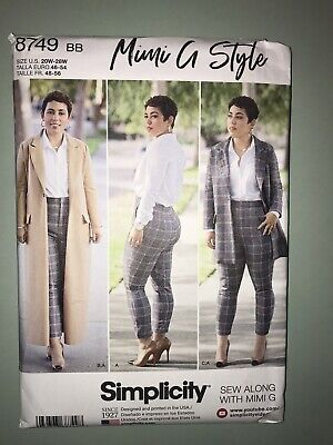 Simplicity Pattern 8749 Mimi G Misses Coat in 2 Lengths and Pants Choose Size Simplicity Misses Pants