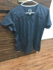 Size Lg scrubs and Marks punch cards.