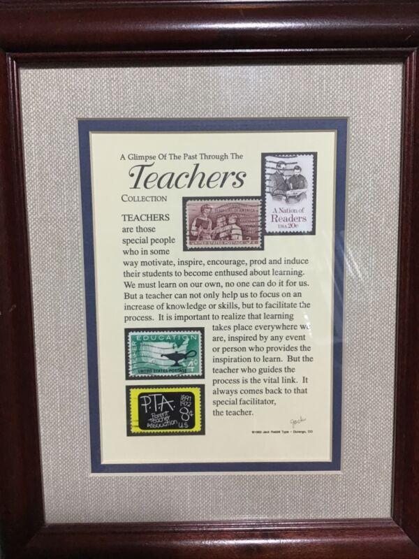 Stamp Art Glimpse Of The Past Teachers Collection Jack Rabbit Studio Framed 1993