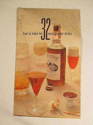 Vintage 1959 Southern Comfort TV Guide 32 Drinks Alcohol Advertising Booklet