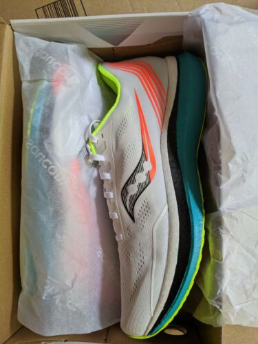 Saucony Endorphin Pro, White / Mutant, Mens Size 12, Running Shoes, S20598-10