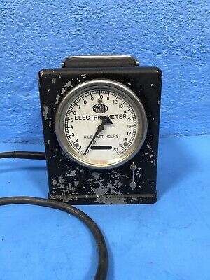 Vintage Portable Watthour Meter Type F Sangamo Electric Company Working