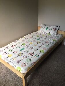 Twin bed frame, base and mattress-can deliver